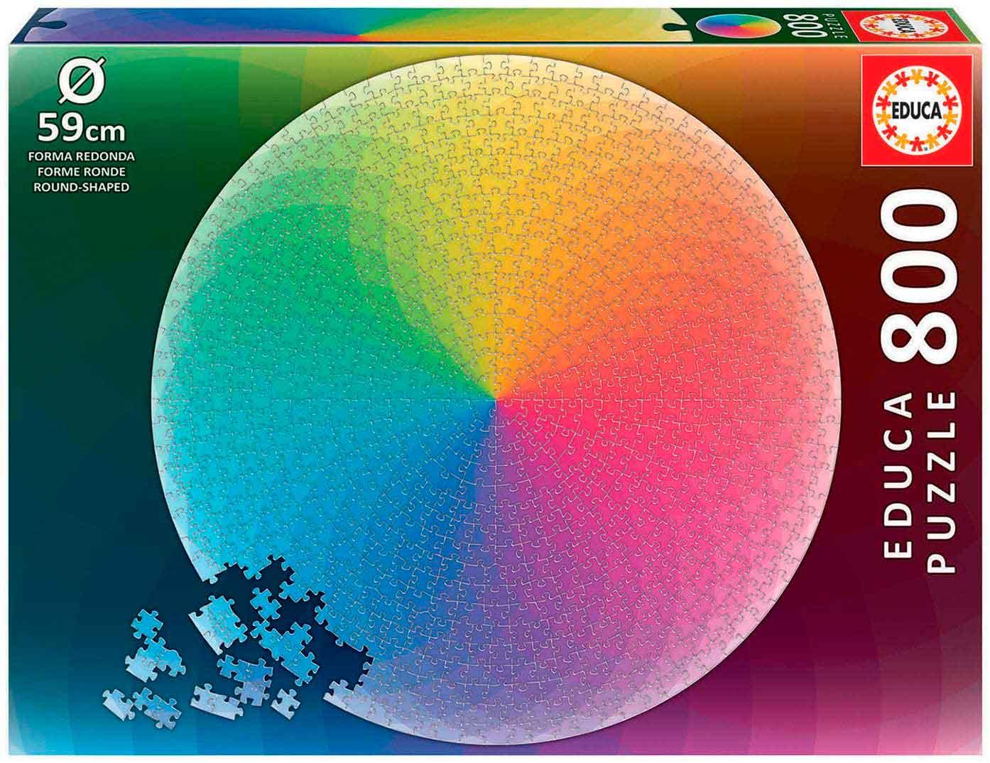 Puzzle Educa Redondo Arco Iris de 800 Piezas