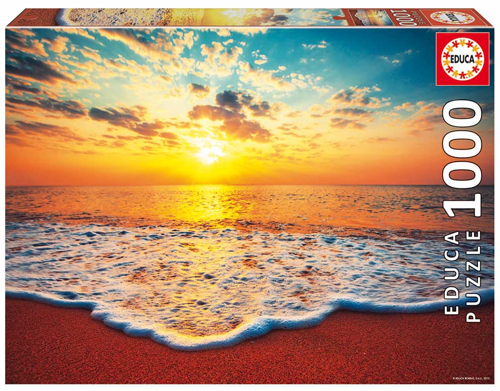 Puzzle Educa Atardecer en la Playa de 1000 Piezas