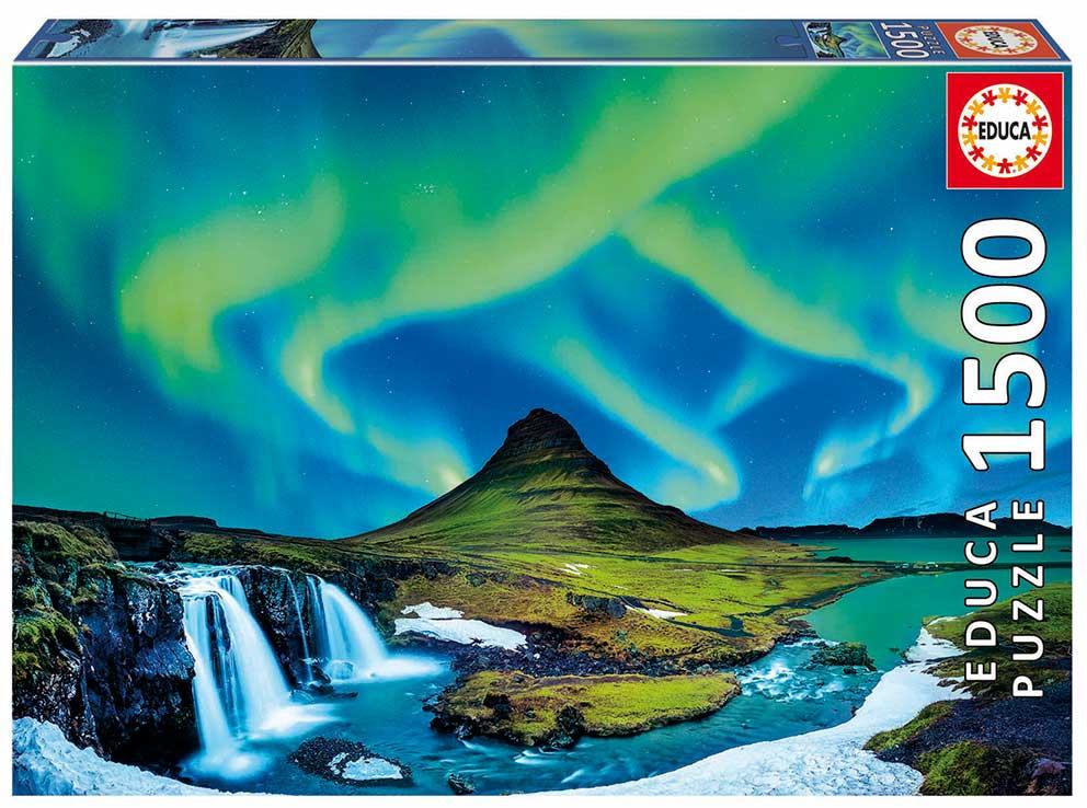 Puzzle Educa Aurora Boreal, Islandia de 1500 Piezas
