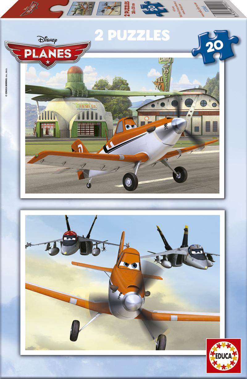 Puzzle Educa Aviones, Planes 2 x 20 Piezas