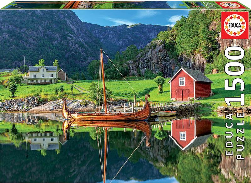 Puzzle Educa Barco Vikingo de 1500 Piezas