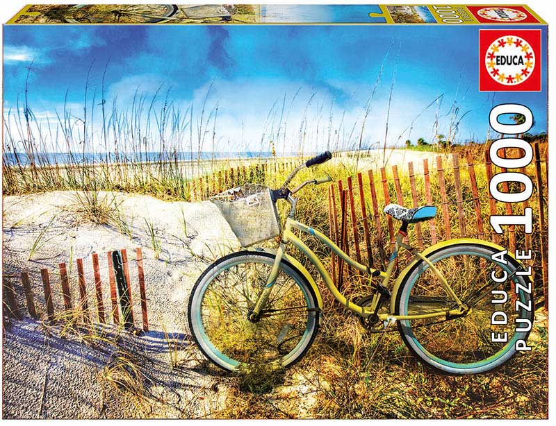 Puzzle Educa Bicicleta en las Dunas de 1000 Piezas