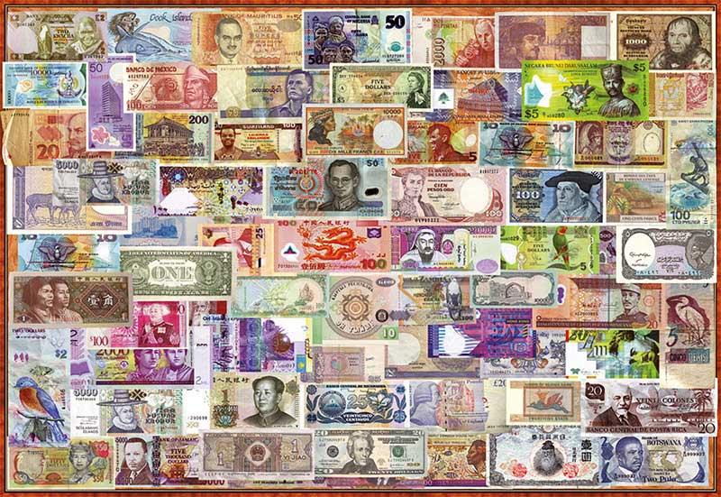 Puzzle Educa Billetes del Mundo de 1000 Piezas