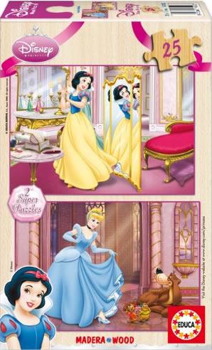 Puzzle Educa Blancanieves y Cenicienta 2 x 25 Piezas