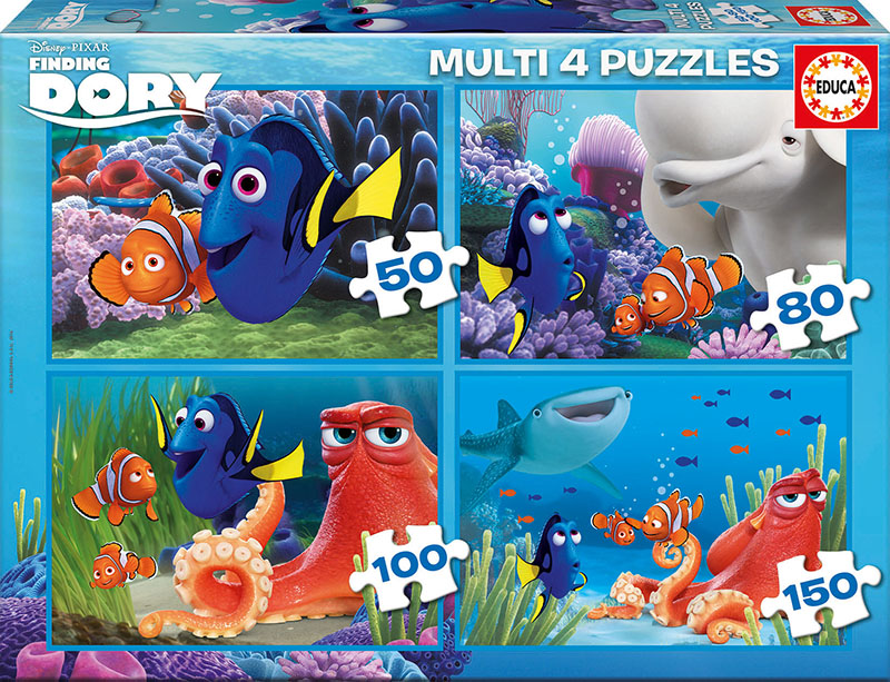 Puzzle Educa Buscando a Dory Muliti 50+80+100+150  Piezas