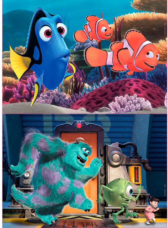 Puzzle Educa Buscando a Nemo + Monsters de 2 x 25 Pzs Madera