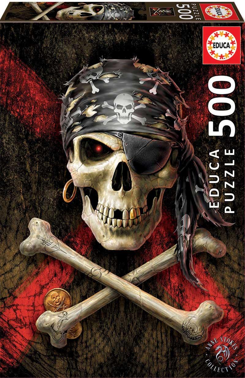 Puzzle Educa Calavera Pirata de 500 Piezas