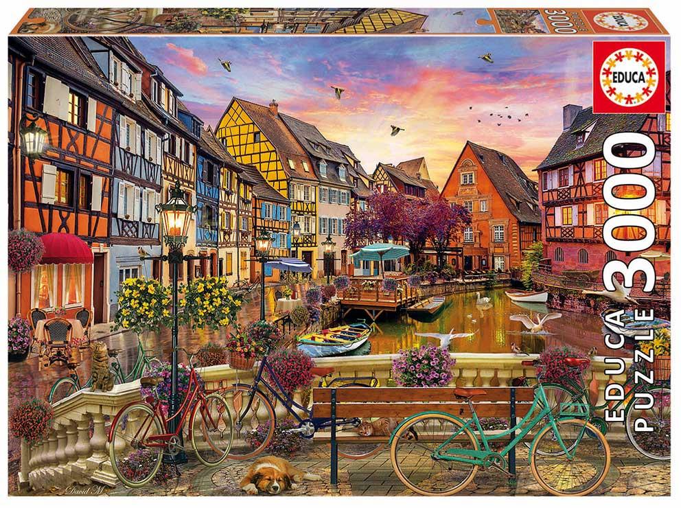 Puzzle Educa Canal de Colmar de 3000 Piezas