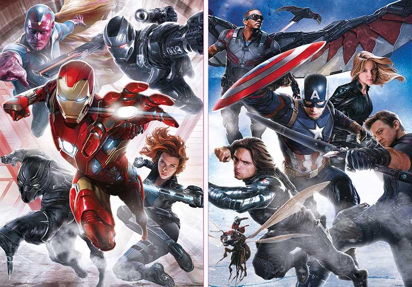 Puzzle Educa Capitán América 2 x 500 Piezas