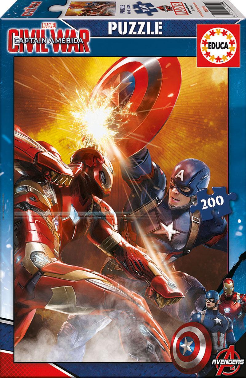 Puzzle Educa Capitán América, Civil War de 200 Piezas