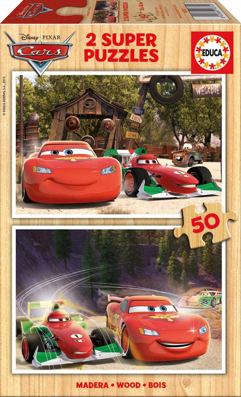 Puzzle Educa Cars 2 x 50 Piezas Madera