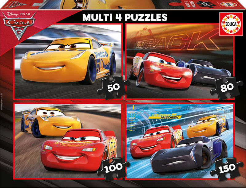 Puzzle Educa Cars 3 Multi Progresivo 50+80+100+150 pzs.
