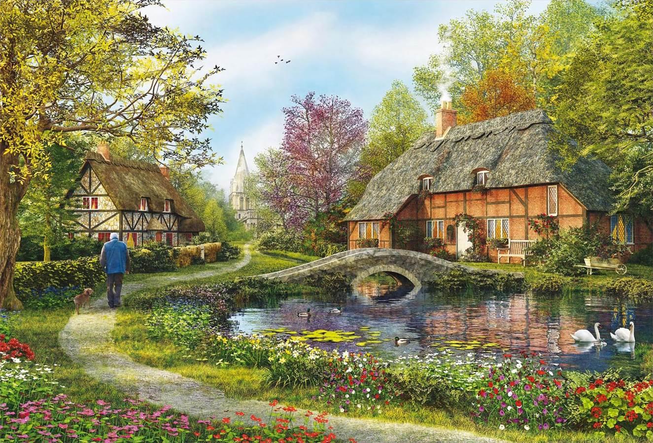Puzzle Educa Casa de Campo con Estanque de 5000 Piezas