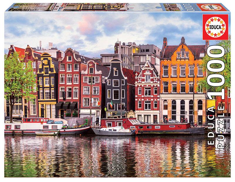 Puzzle Educa Casas Danzantes, Amsterdam de 1000 Piezas