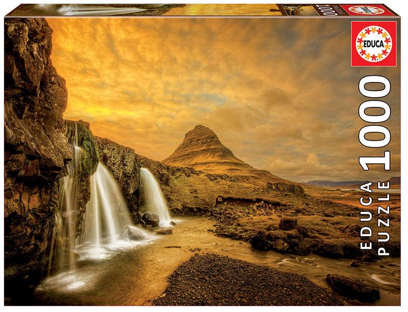 Puzzle Educa Cascada Kirkjufellsfoss, Islandia de 1000 Piezas