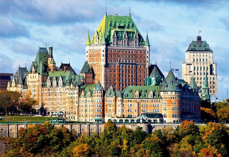Puzzles de Castillos, Puzzle Educa Castillo de Frontenac, Canadá de 1000 Piezas
