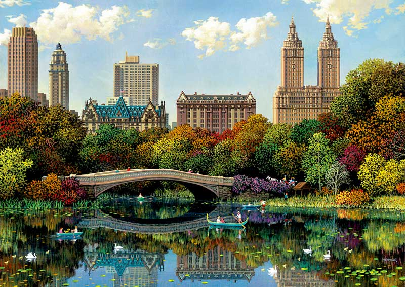 Puzzle Educa Central Park Bow Bridge de 8000 Piezas