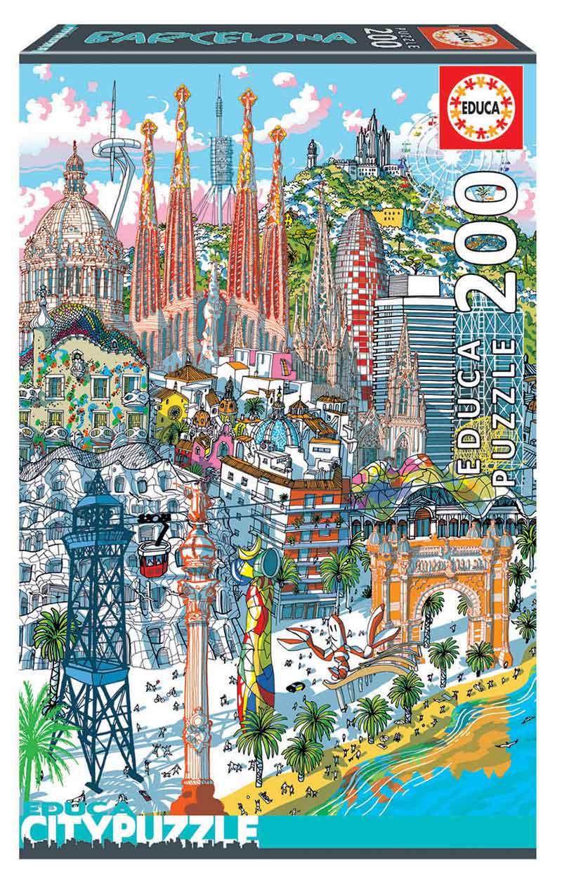 Puzzle Educa City Barcelona de 200 Piezas