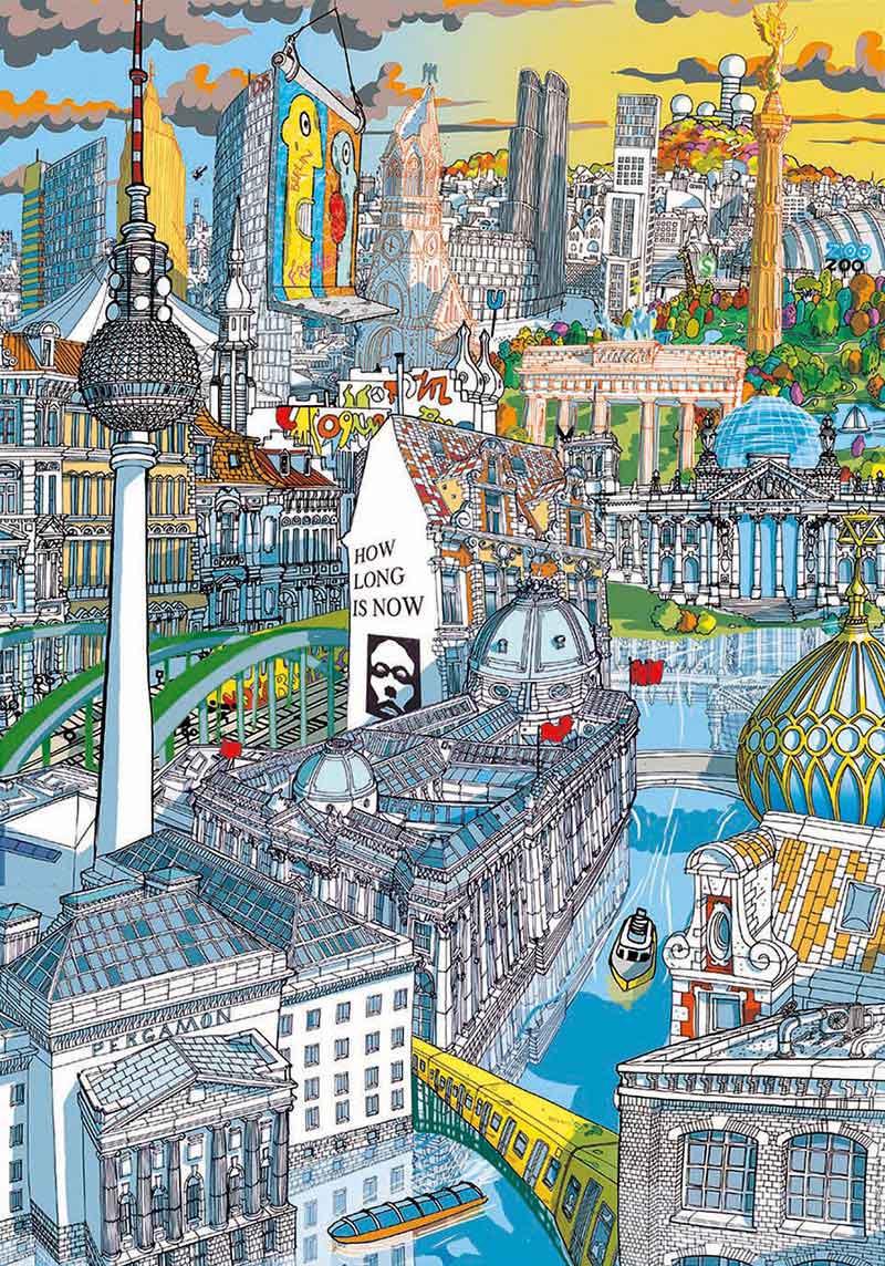 Puzzle Educa City Berlin de 200 Piezas