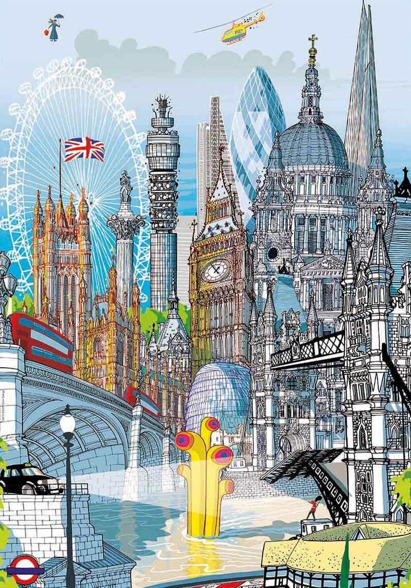 Puzzle Educa City London de 200 Piezas