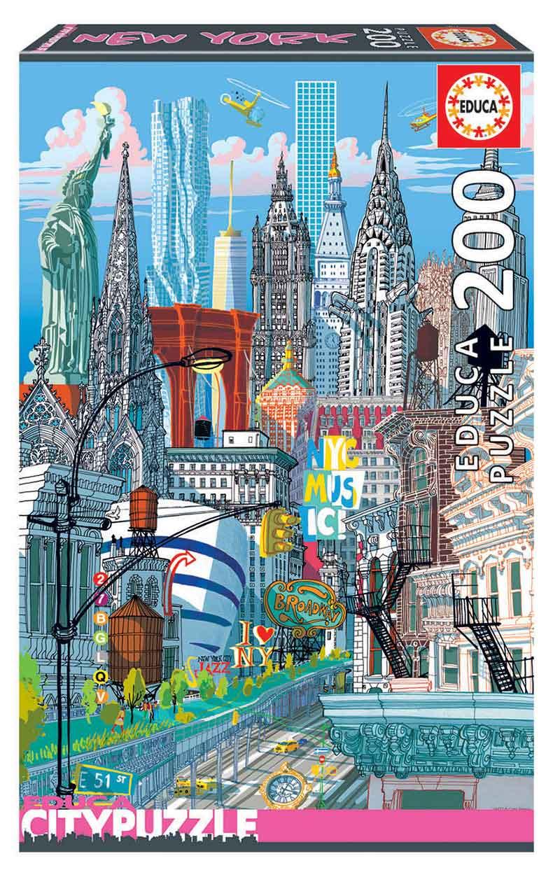 Puzzle Educa City New York de 200 Piezas