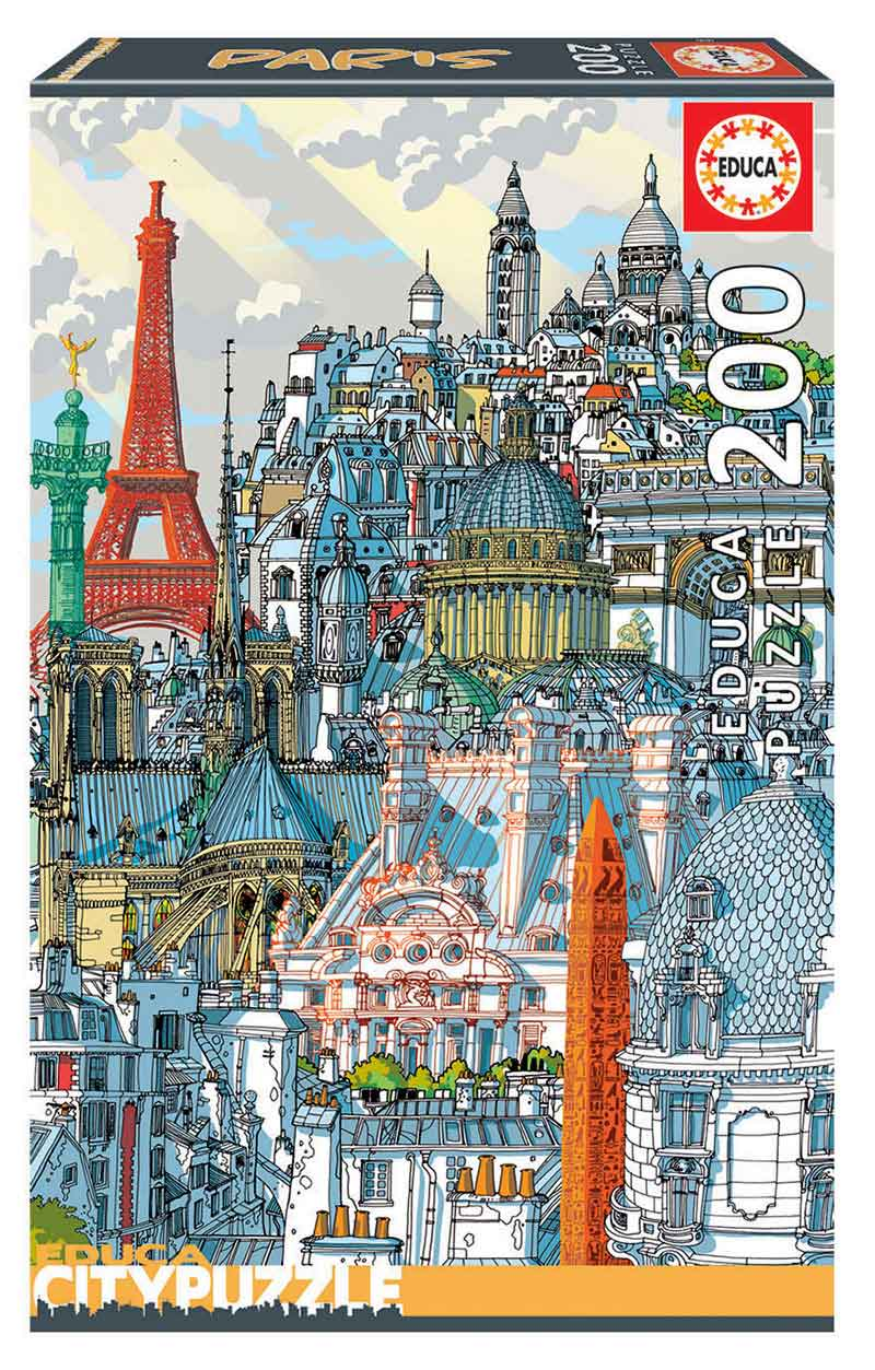 Puzzle Educa City Paris de 200 Piezas