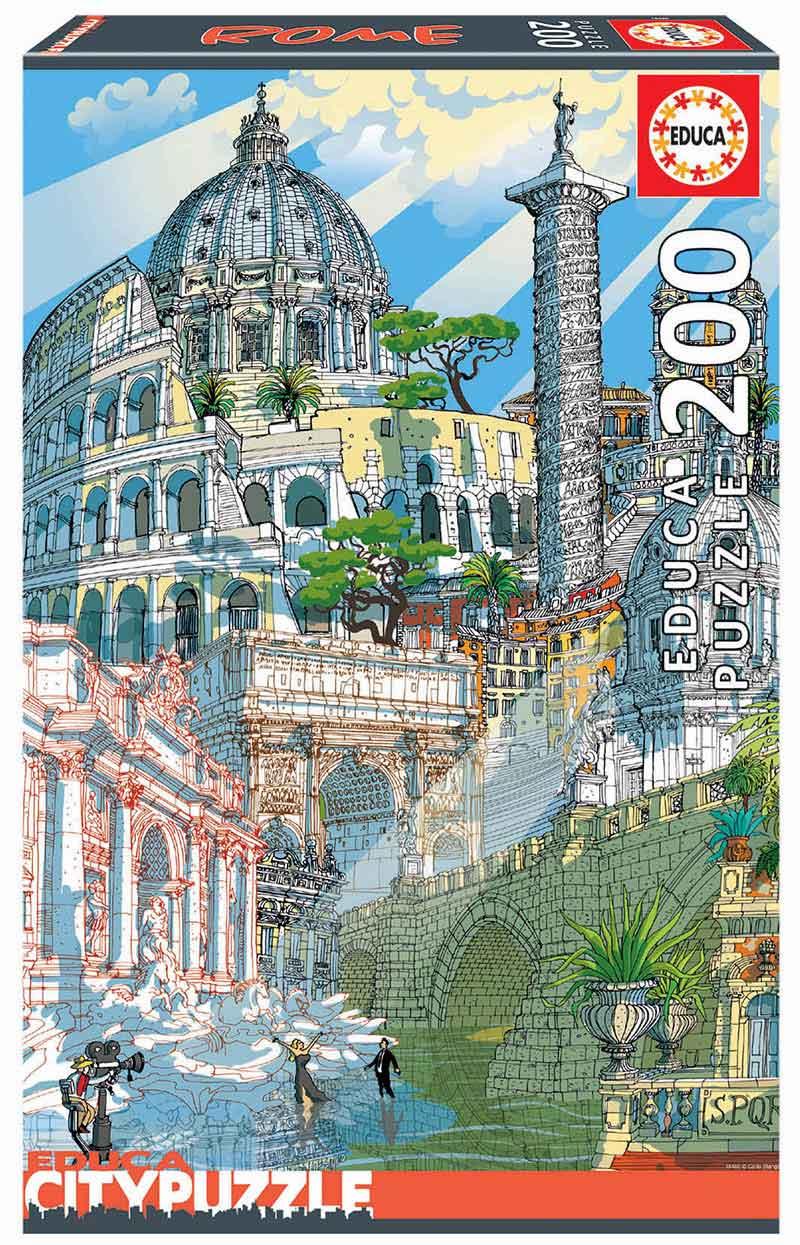 Puzzle Educa City Roma de 200 Piezas