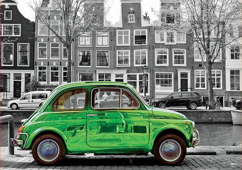 Puzzle Educa Coche en Amsterdam de 1000 Piezas