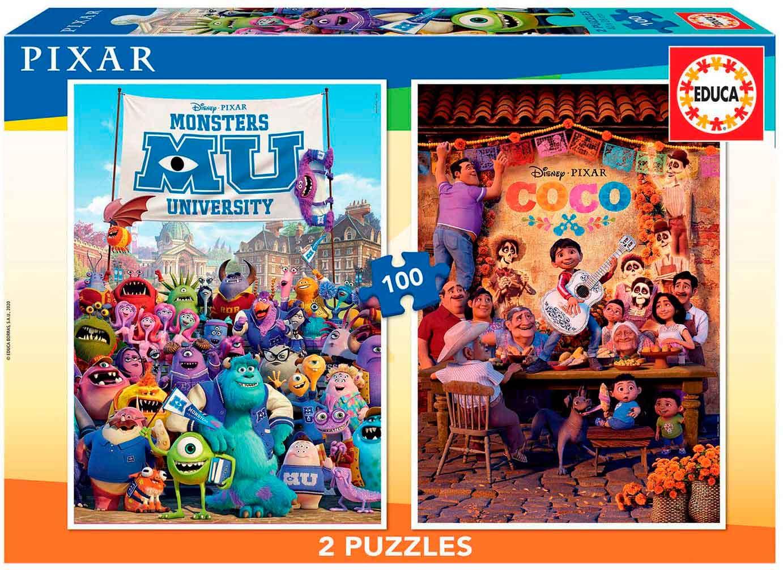 Puzzle Educa Coco + Monsters University 2 x 100 Pzs
