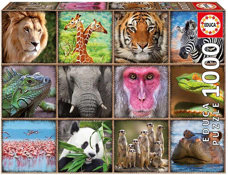 Puzzle Educa Collage de Animales Salvajes de 1000 Piezas