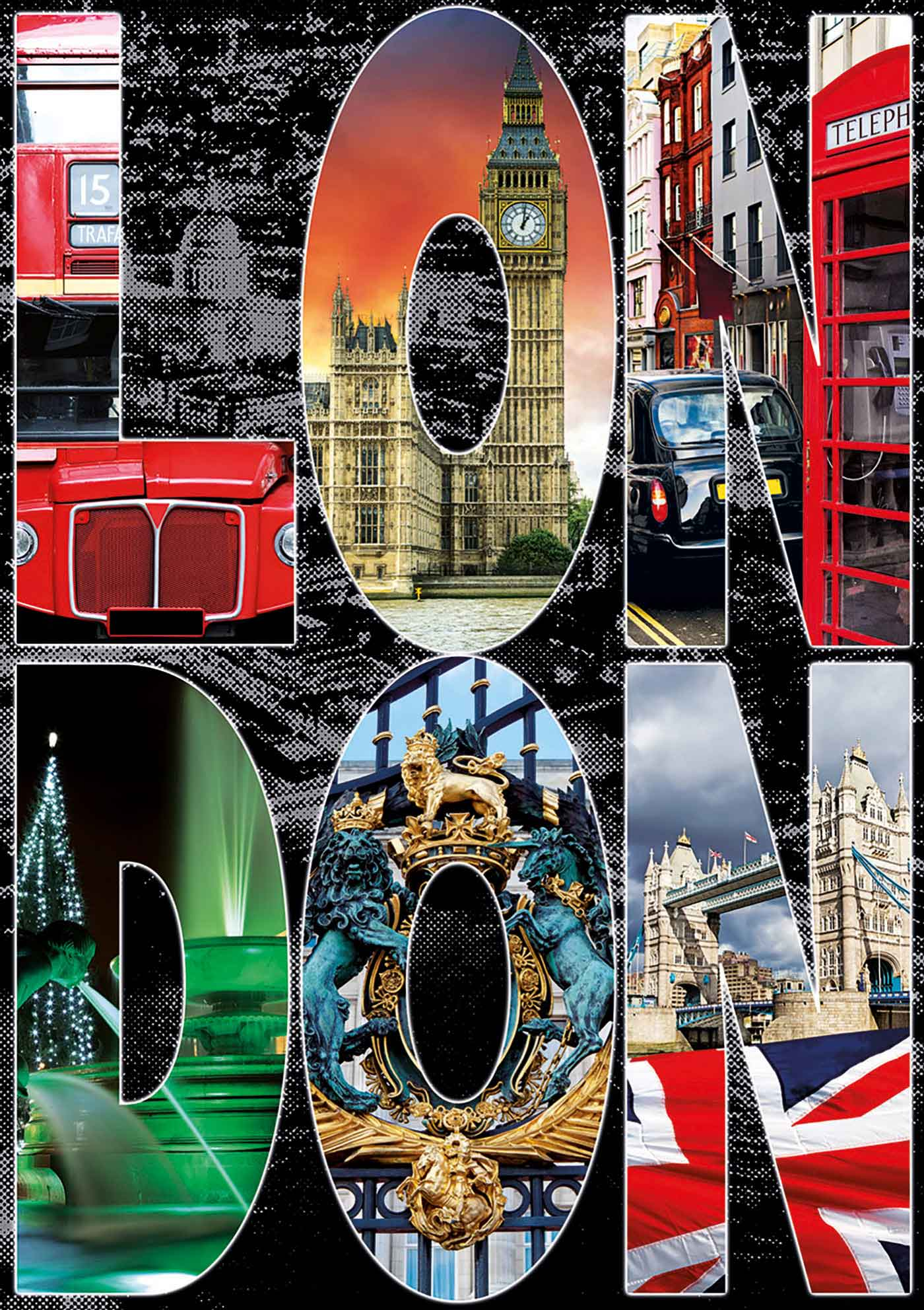 Puzzle Educa Collage de Londres 1000 Piezas