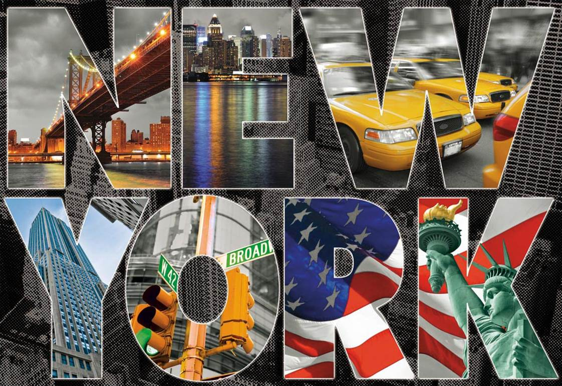 Puzzle Educa Collage de New York de 1000 Piezas