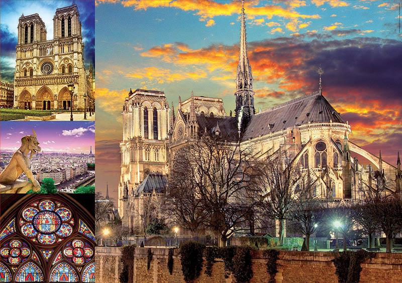 Puzzle Educa Collage de Notre Dame de 1000 Piezas