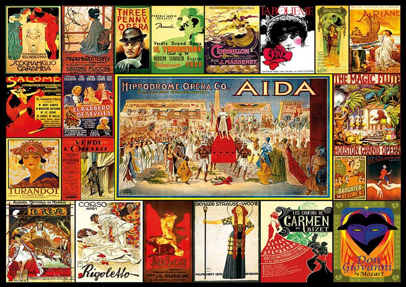 Puzzle Educa Collage de Óperas de 3000 Piezas