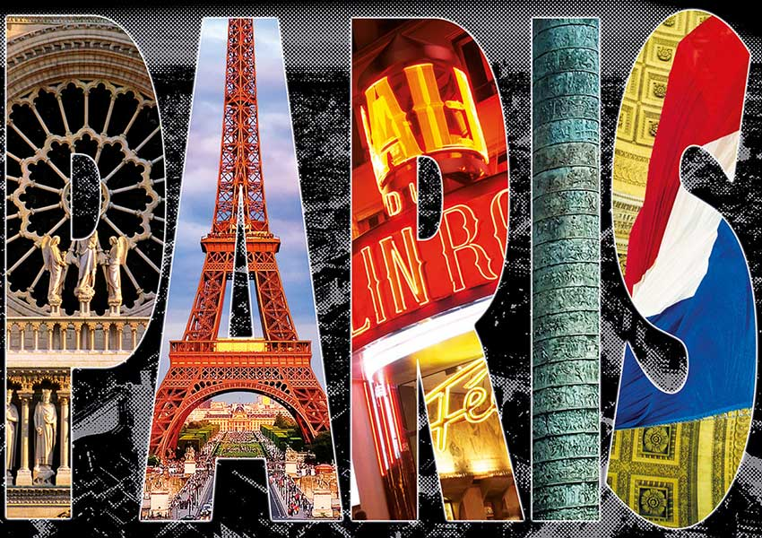 Puzzle Educa Collage de París 1000 Piezas