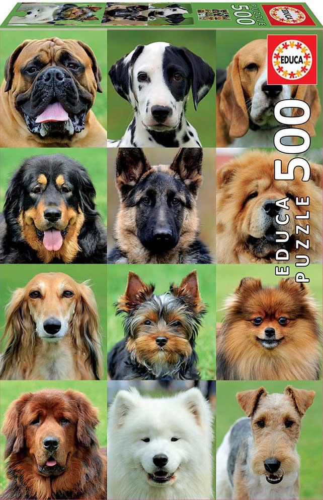 Puzzle Educa Collage de Perros de 500 Piezas