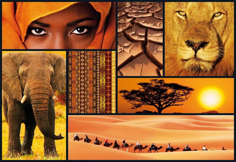 Puzzle Educa Colores de Africa de 1000 Piezas
