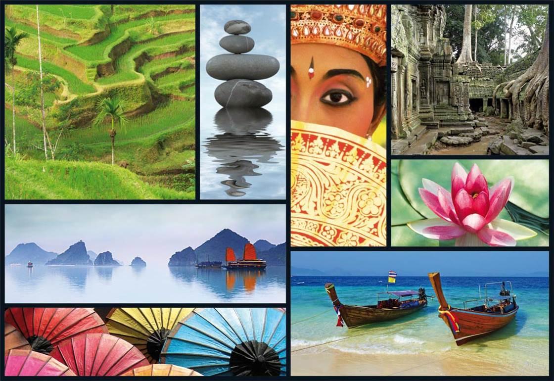 Puzzle Educa Colores de Asia de 1000 Piezas