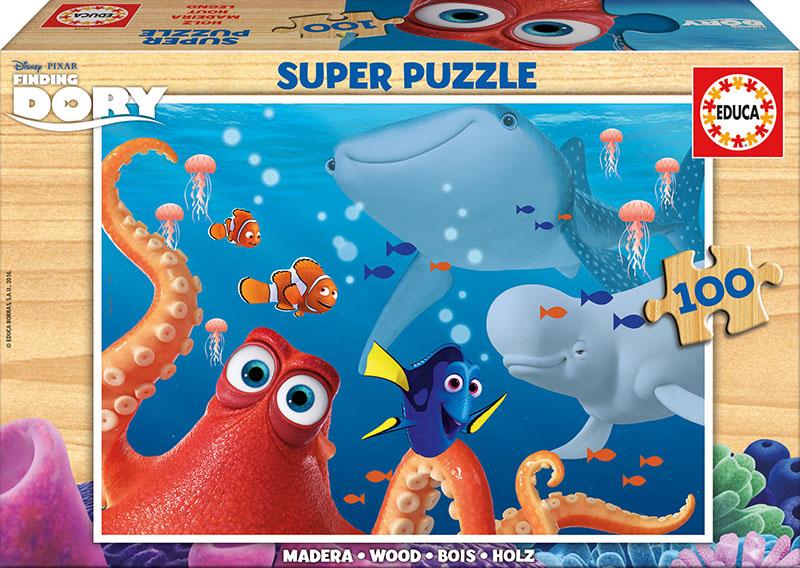 Puzzle Educa de Madera Buscando a Dory de 100 Piezas