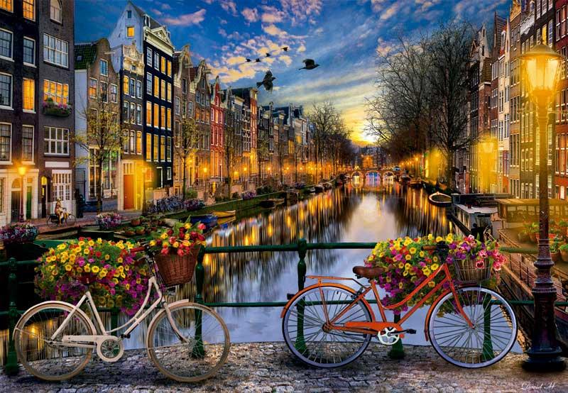 Puzzle Educa Desde Amsterdam con Amor de 2000 Piezas