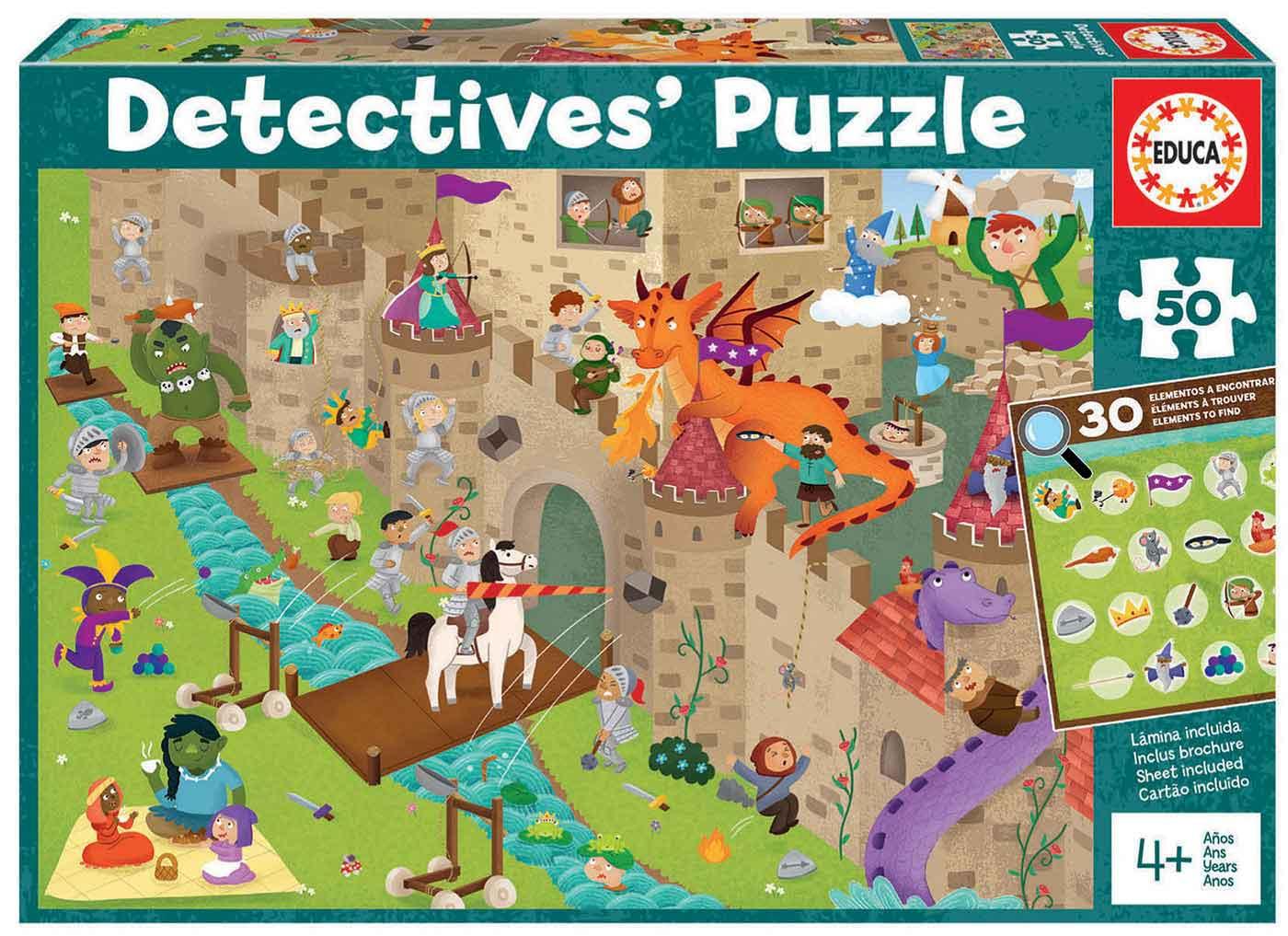 Puzzle Educa Detectives El Castillo de 50 Piezas