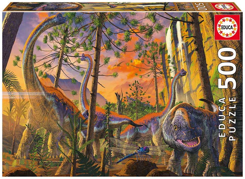 Puzzle Educa Dinosaurios Curiosos de 500 Piezas
