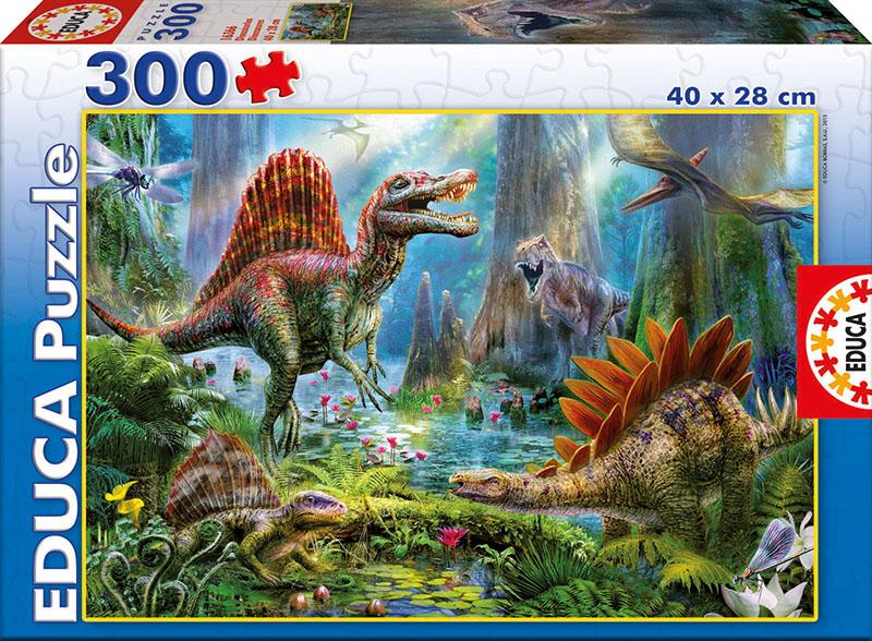 Puzzle Educa Dinosaurios de 300 Piezas