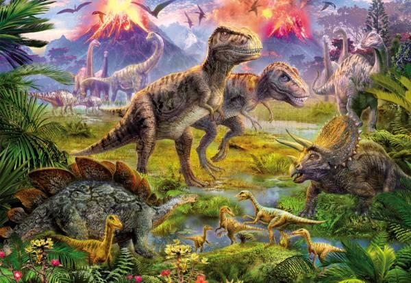 Puzzle Educa Encuentro de Dinosaurios de 500 Piezas