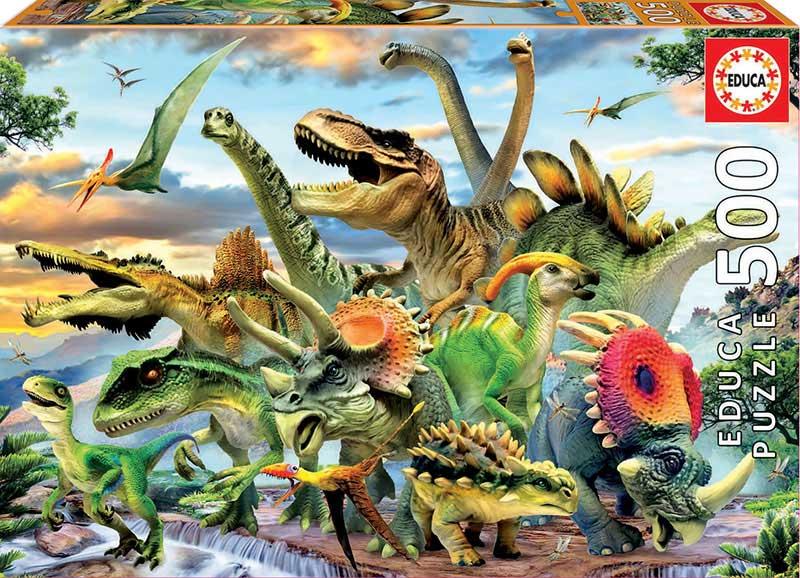 Puzzle Educa Dinosaurios de 500 Piezas
