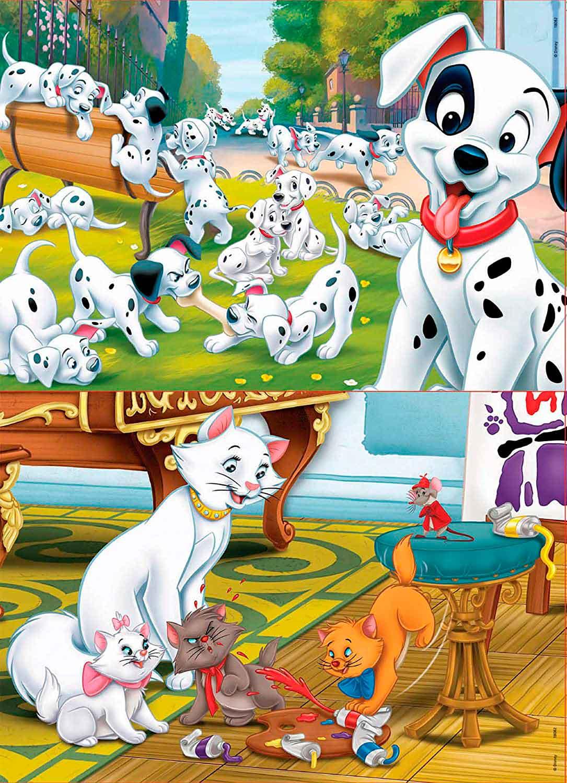 Puzzle Educa Disney Animals de 2 x 25 Piezas Madera