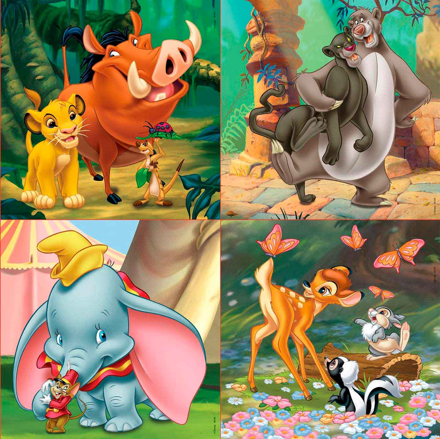 Puzzle Educa Disney Animals Progresivo 12+16+20+25 Pzs