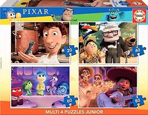 Puzzle Educa Disney Pixar Multi Progresivo 20+40+60+80 pzs