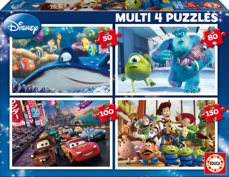 Puzzle Educa Disney Pixar Multi Progresivo 50+80+100+150