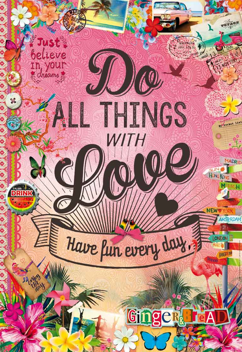 Puzzle Educa Do All Things With Love de 500 Piezas